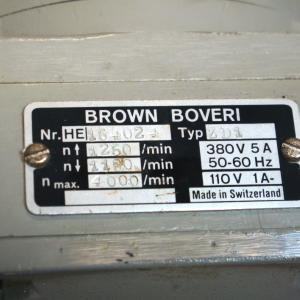 ZD1 BROWN BOVERI